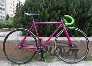 Rower FIXED WARSAW Pink Chrom